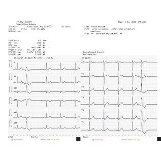 Nihon Kohden Registratiepapier Cardiofax M, Z-fold, 210mm x 140mm