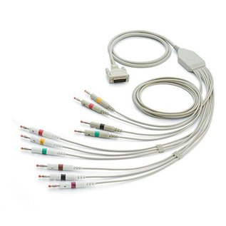 Welch Allyn Patiëntenkabel 10-Lead ECG, 4mm banana plug