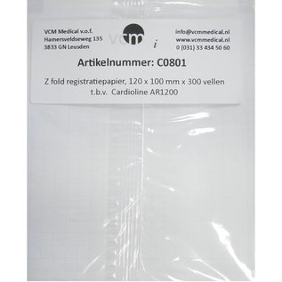 Registratiepapier Cardioline AR1200