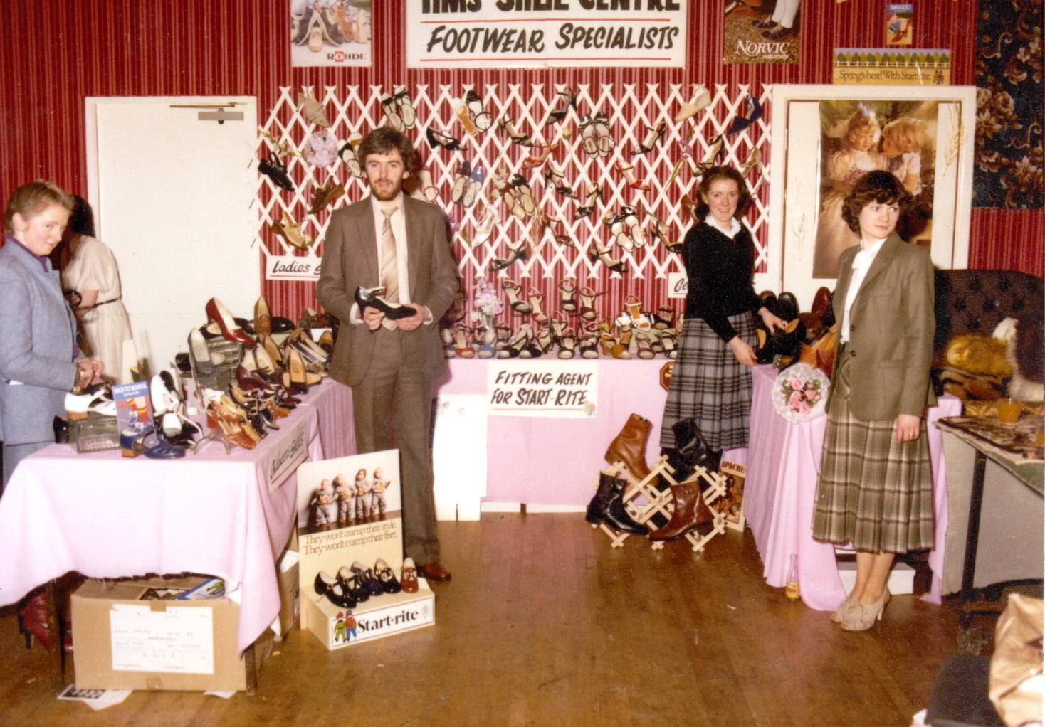 Decades of experience: Tim's Shoe Centre's stand at the wedding fair in March 1980