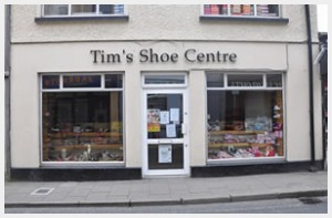 Tim's Shoe Centre Storefront Newcastle West