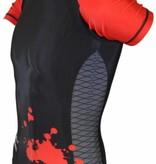 PHOENIX MMA Rashguard kurz schwarz-rot-grau