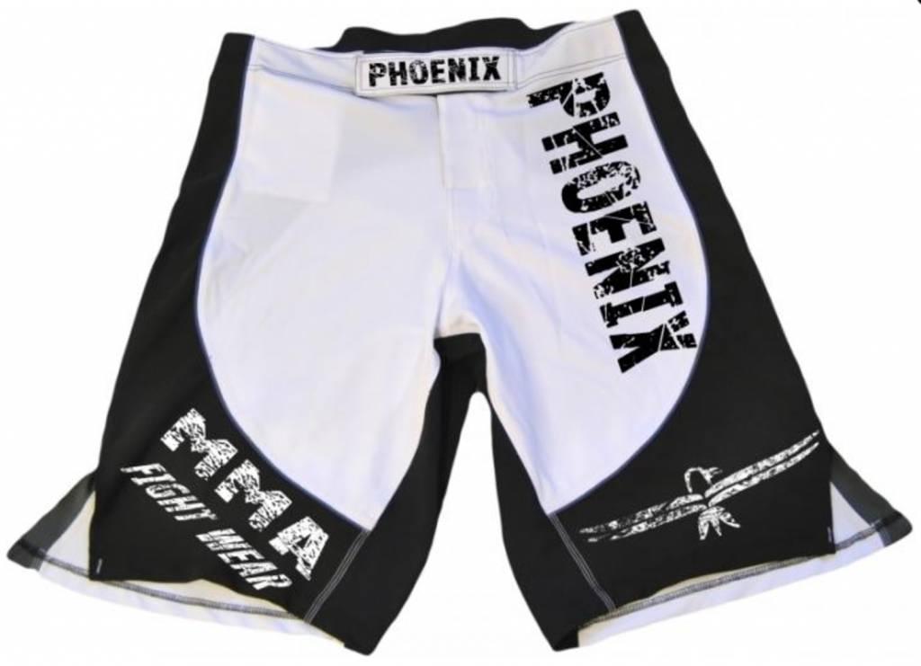 PHOENIX MMA Shorts schw-weiß-grau, Stretch