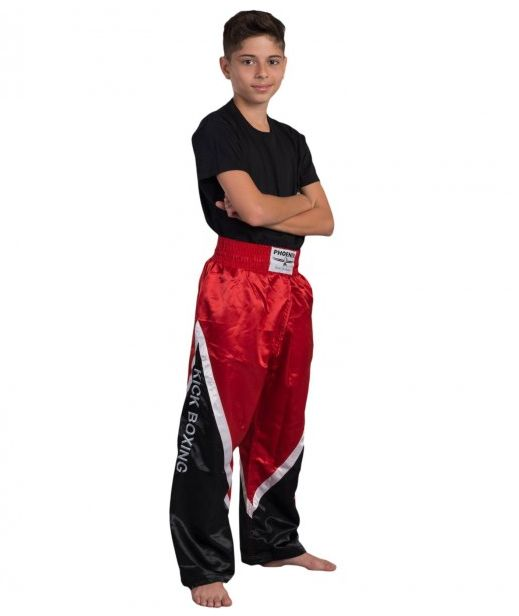 BUDOS FINEST Kickboxhose schwarz-rot-weiss