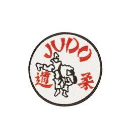 KWON Stickabzeichen Judo weiss rot