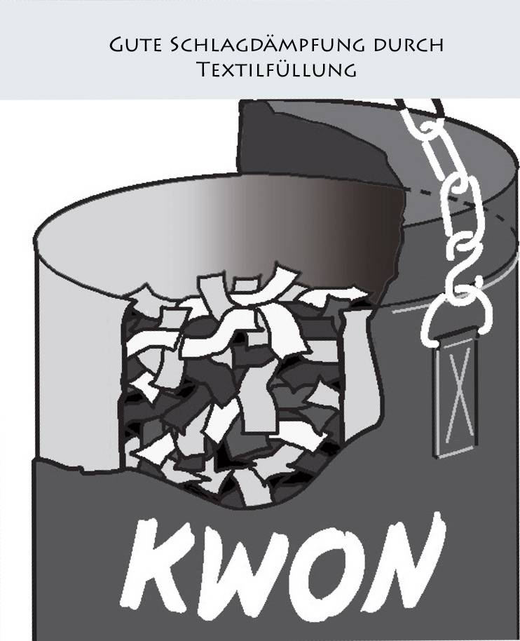 KWON Sandsack Boxsack BLAU 100 cm, gefüllt