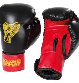 KWON Kinder Boxhandschuhe Cobra 6oz schwarz