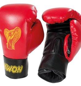 KWON Kinder Boxhandschuhe Cobra 6oz rot