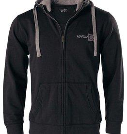KWON Hoodie mit Reißverschluss und Taschen - Schwarz