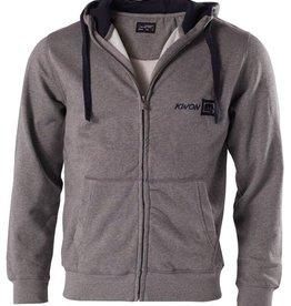 KWON Hoodie mit Reißverschluss und Taschen - Grau