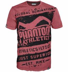 "Phantom Athletics T-Shirt ""Walkout"" - Rot/Schwarz"