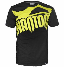 "Phantom Athletics T-Shirt ""Supporter"" - Schwarz/Neon Gelb"