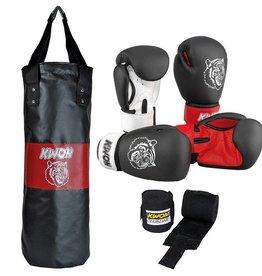 """KWON Kinder Boxset """"Tiger"""" - Boxsack+Boxhandschuhe+Bandagen"""