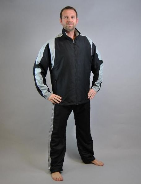 PHOENIX Trainingsjacke weiß-schwarz