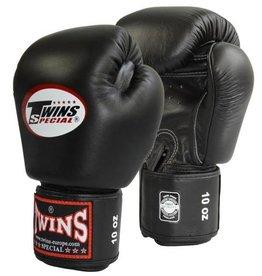 TWINS Rindsleder Boxhandschuhe schwarz