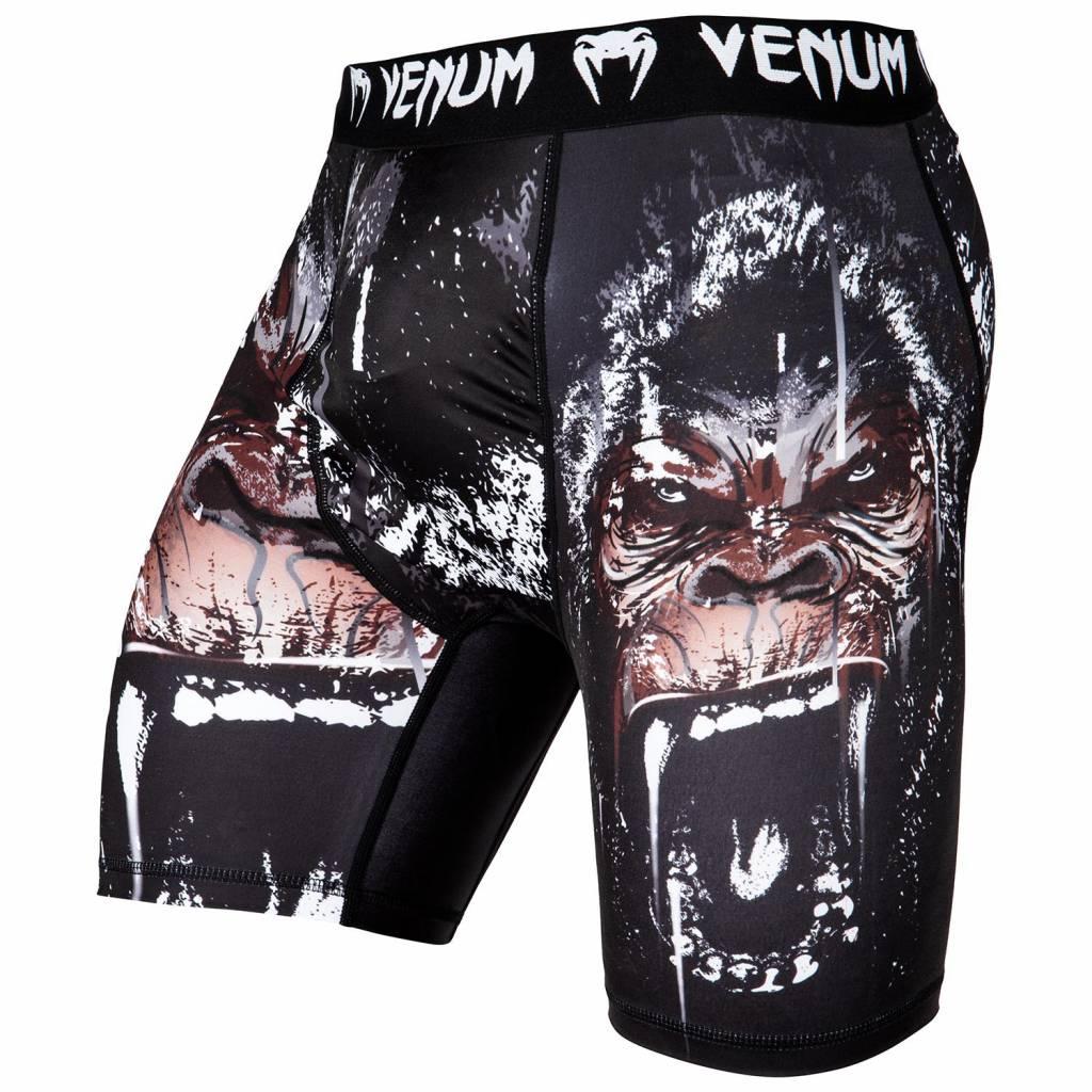 """VENUM Venum Kompressionsshorts """"Gorilla"""" - Schwarz - MMA BJJ Shorts"""