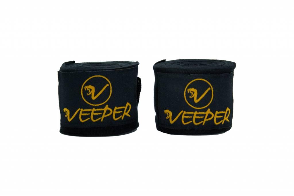 VEEPER® 4,5m  elastische Boxbandagen - aus elastischer Baumwolle & Elasthan - Handschutz, Daumenschlaufe, Bandagen, für Sandsack, Boxen Kickboxen, MMA, Taekwondo