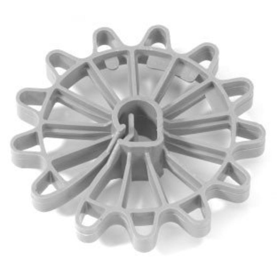 200 stuks Kunstof roset afstandhouders in zak - dekking 35 mm