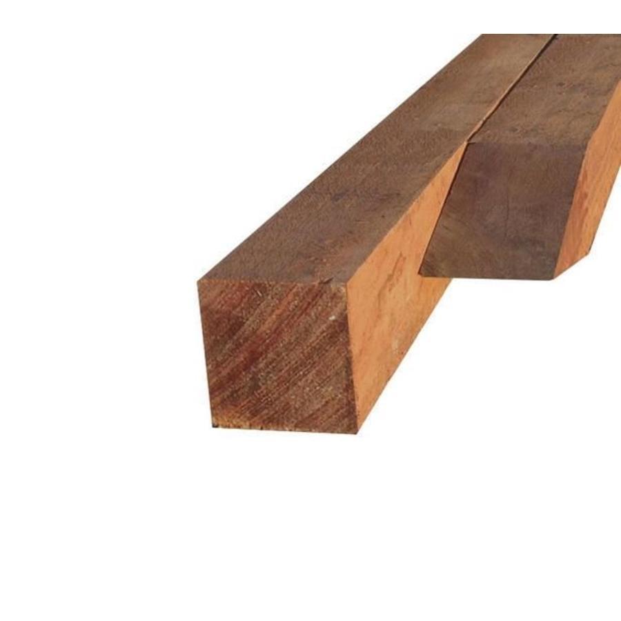Hardhouten (Azobe) paal fijn gezaagd 6 x 6 x 300 cm