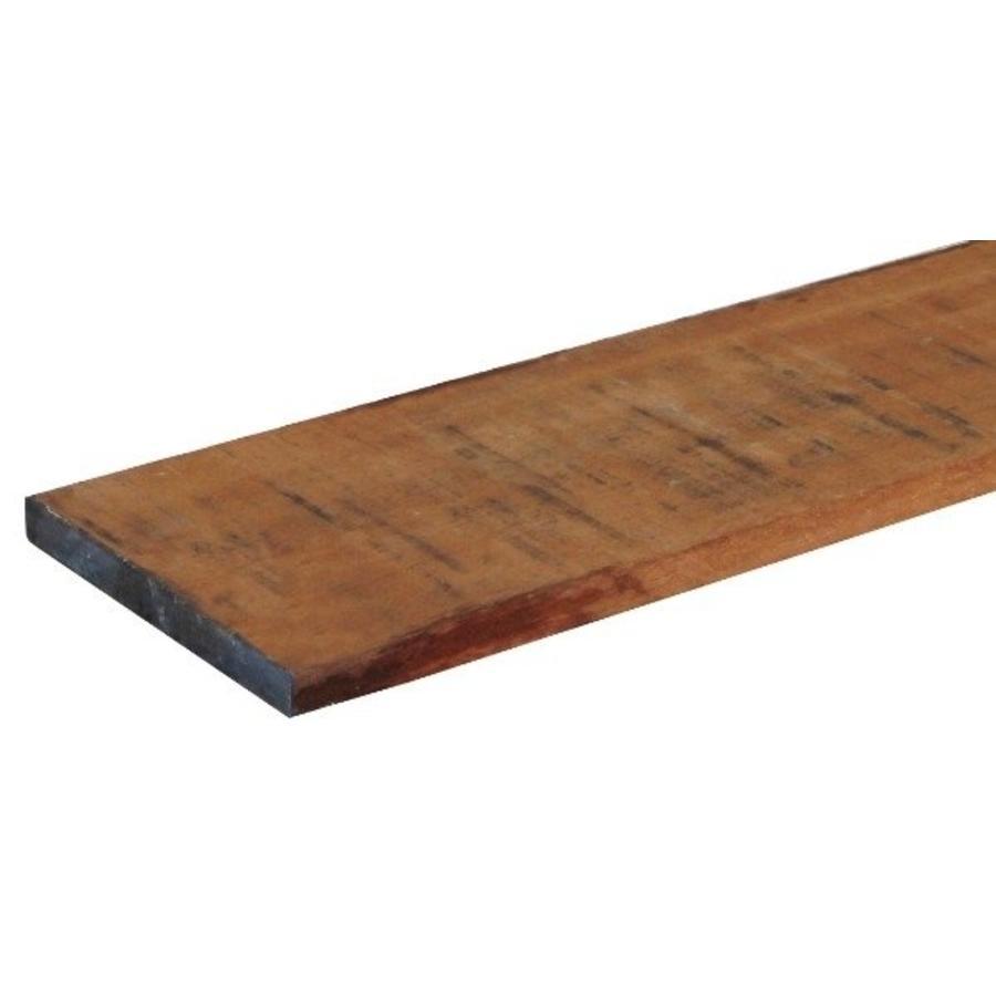 Hardhouten Azobe kantplank 2 x 20 x 300 cm - gezaagd