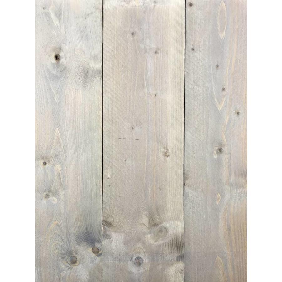 Gebruikte steigerhout steigerplank - Old Grey Look - ca. 3 x 20 x 300 cm