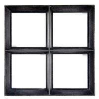 Stalen raam - vierkant vast