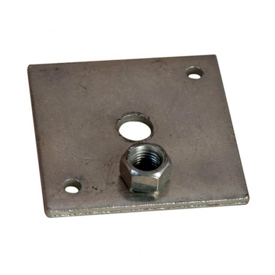 Stelplaat betonpoer - losse moer - incl. houtdraadbouten