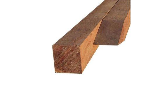 Hardhouten paal 7 x 7 x 275 cm - gezaagd