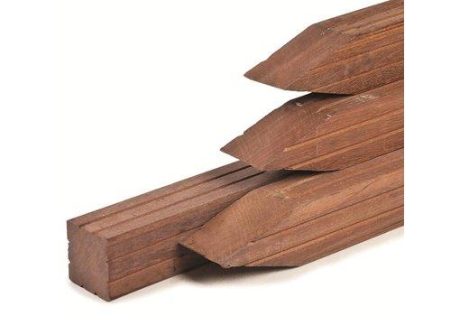 Hardhouten paal Azobe 6.5 x 6.5 x 300 cm - geschaafd met V-groef