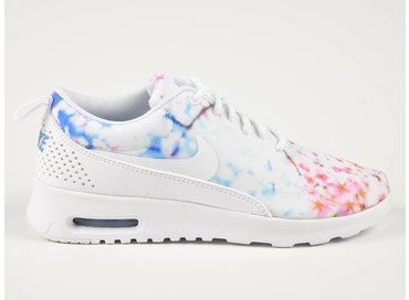 "WMNS Air Max Thea Print White/White/University Blue ""Cherry Blossom 599408 102"