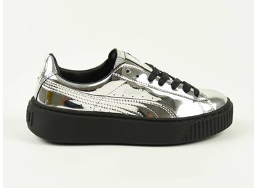 Puma Basket Platform Metallic Silver/Black 362339 06