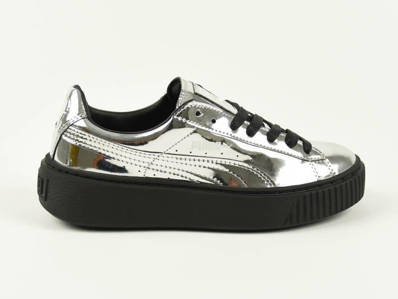 Basket Platform Metallic Silver/Black 362339 06