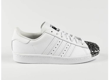 Superstar 80s Metal Toe TF White/White S76532