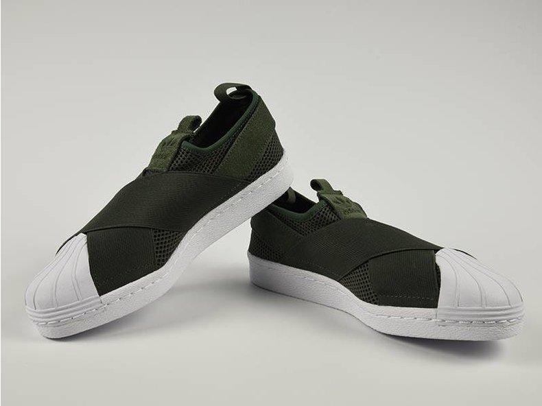 Superstar SlipOn W Green/White S75082