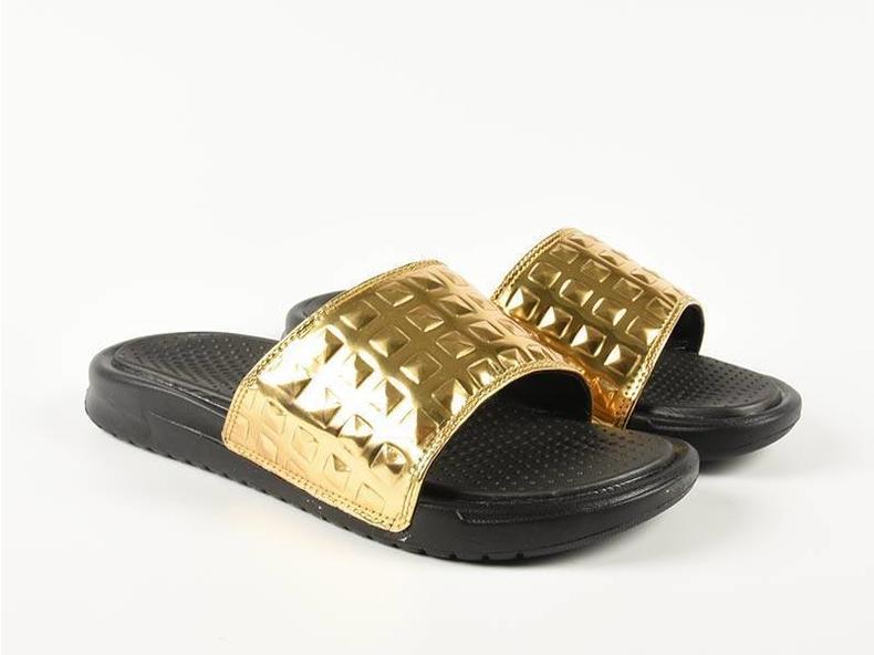 WMNS Benassi JDI Ultra Prem Black/Black/Gold 818737 002