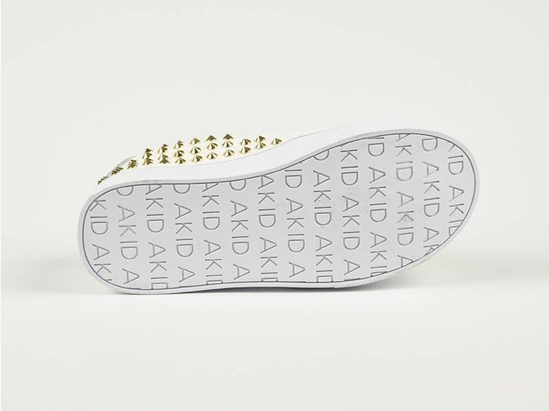 Liv White/Gold Stud