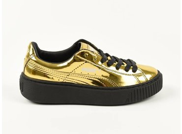 Puma Basket Platform Metallic Gold/Black 362339 04