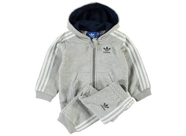 Adidas I FLE Hoodie set Grey/White AJ0007