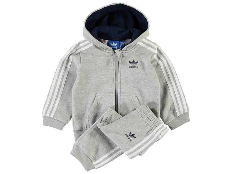 I FLE Hoodie set Grey/White AJ0007