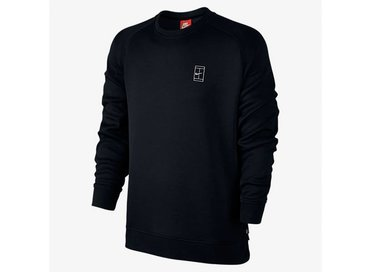 Nike Court Fleece Crew Black/Black/White 744010 010