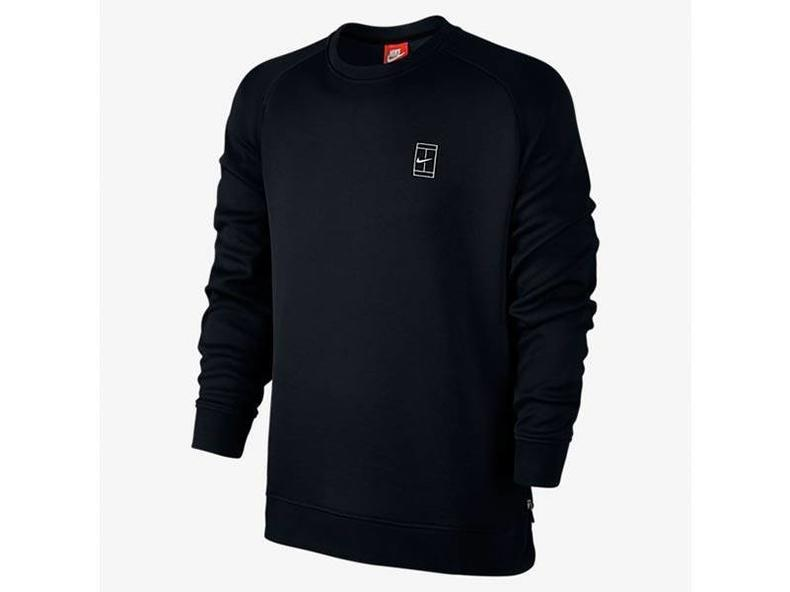 Court Fleece Crew Black/Black/White 744010 010