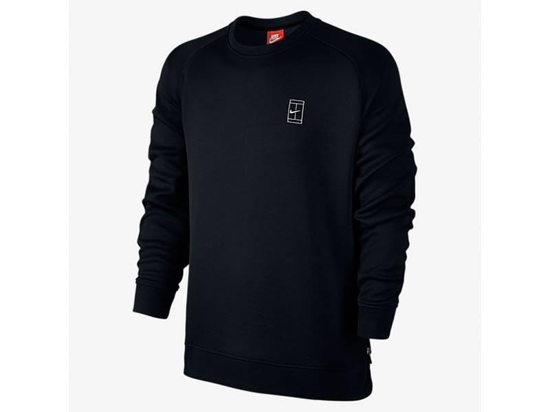 Court Fleece Crew Black/Black/White 744010 010