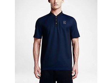 Nike Court Polo Black/Deep Royal Blue/Metallic Silver 743996 011