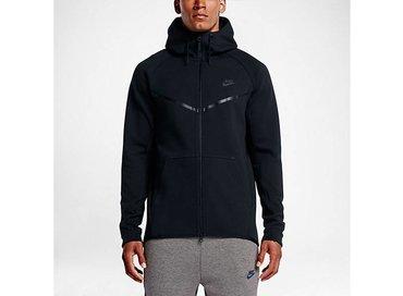 Men's Sportswear Tech Fleece Wind Runner Hoodie Black/Black 805144 010