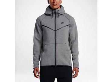 Men's Sportswear Tech Fleece Wind Runner Hoodie Carbon Heather/Black 805144 091