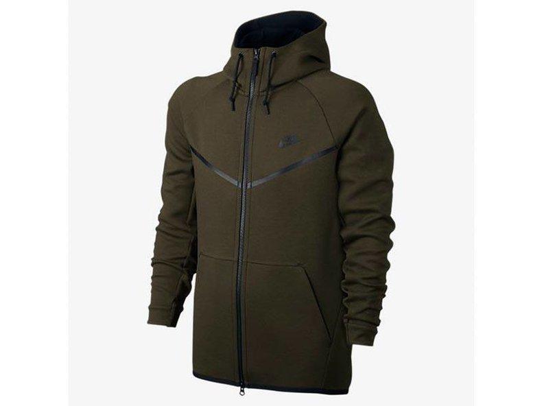 Men's Sportswear Tech Fleece Windrunner Hoodie Dark Loden/Heather/Black 805144 330