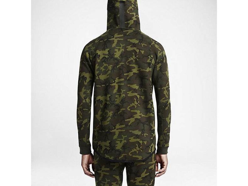 Tech Fleece Full Zip Hoodie Camo/Black 678950 355