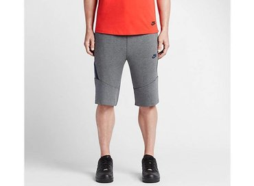 Nike Tech Fleece Short 2.0 Carbon Heather/Obsidian 727357 091