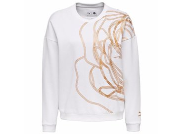 X Careaux Crew Sweat White 571688 02