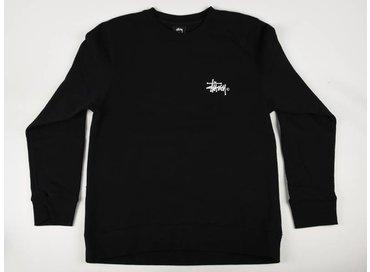Stussy Basic Logo Crew Black 1913778